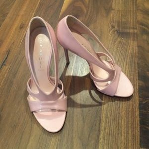 Casadei pale pink patent heels. Never worn!